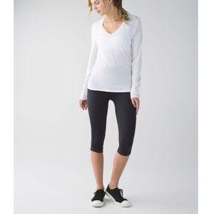 Lululemon In The Flow Cropped Active Wear Leggings